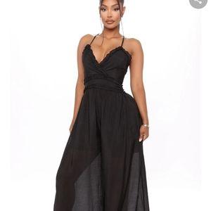 NWT Fashionnova Black Jumpset